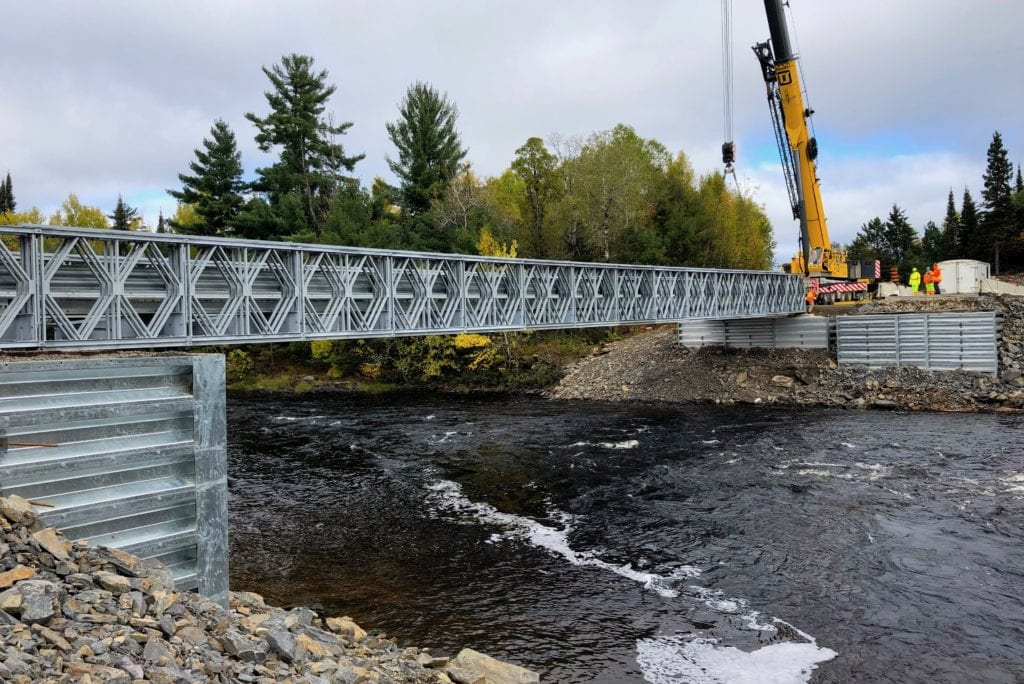 Bailey Bridge and abutments package installation